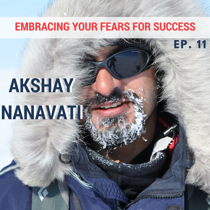 Akshay nanavati of fearvana on polar ice cap