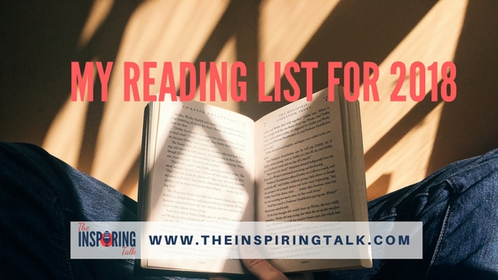 My reading list for 2018