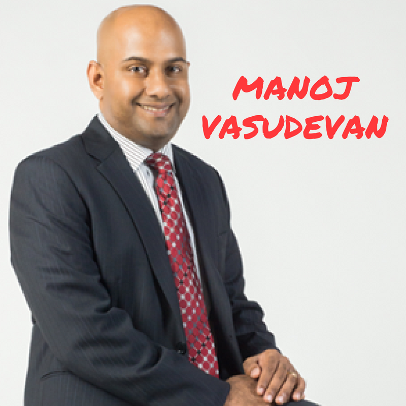 Manoj Vasudevan Interview posing